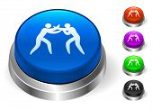 Boxing Icons on Round Button Collection