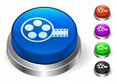 Film Reel Icons on Round Button Collection