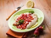 escalope with strawberries