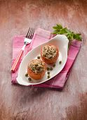 stuffed tomatoes with tuna and capers