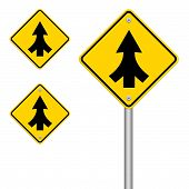 pic of merge  - Traffic sign Lanes Merging isolated on white background - JPG