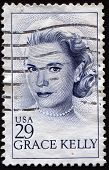 USA - CIRCA 1993: Stamp printed in United States of  Grace Patricia Kelly , circa 1993
