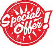Special Offer Marketing Rubber Stamp