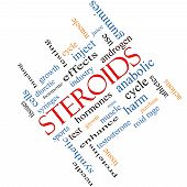 stock photo of hormones  - Steroids Word Cloud Concept angled with great terms such as hormones sports synthetic and more - JPG