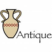 picture of mesopotamia  - Cartoon illustration showing a brown antique vase - JPG