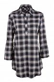 Plaid female shirt isolated on white
