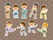 pic of friendship belt  - Cartoon Karate Player Stickers - JPG