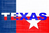 picture of texas star  - The text for the state of Texas with the texas star - JPG