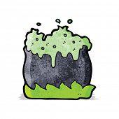 stock photo of cauldron  - bubbling cauldron cartoon - JPG