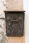 stock photo of postbox  - Close up of a postbox - JPG