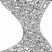 pic of deformed  - Illustration Black deformed QR code on a white background - JPG