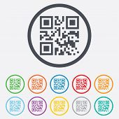 picture of qr-code  - Qr code sign icon - JPG