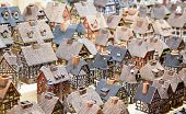 image of alsatian  - Traditional alsatian houses on the Christmas market - JPG