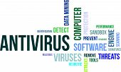 stock photo of antivirus  - A word cloud of antivirus related items - JPG