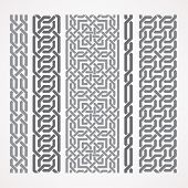 image of chains  - Chain links in islamic pattern - JPG