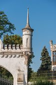 stock photo of manor  - A turret in an ancient manor in ukraine - JPG