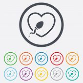 stock photo of insemination  - Sperm sign icon - JPG