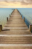 picture of horizon  - boardwalk to the endless horizon and open sea - JPG