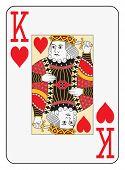 Постер, плакат: Jumbo index king of hearts playing card