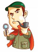 picture of private detective  - Detective Editable  - JPG