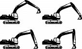 foto of machinery  - Detailed illustration of excavators - JPG