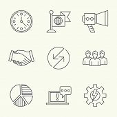 picture of goal setting  - Modern line icons of developing startup strategy - JPG