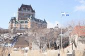 image of chateau  - Chateau Frontenac in winter - JPG