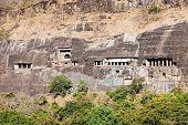 foto of ellora  - Ajanta caves near Aurangabad Maharashtra state in India - JPG