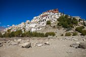 foto of tibetan  - Thiksey Monastery is a Tibetan Buddhist monastery in Ladakh India - JPG