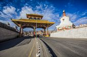stock photo of jammu kashmir  - Entrance of Leh city in the Indian State of Jammu and Kashmir - JPG