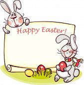 foto of easter eggs bunny  - happy easter banner - JPG