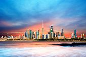 Kuwait skyline and harbor