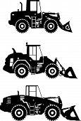 picture of wheel loader  - Detailed illustration of wheel loaders - JPG