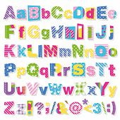 pic of alphabet  - illustration of colorful polka dot - JPG