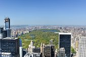 pic of rockefeller  - Aerial view of the New York City skyline and Central Park - JPG
