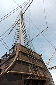 stock photo of galleon  - view of historic portuguese galleon in Melaka Malaysia - JPG