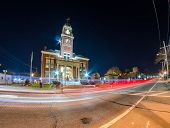 picture of city hall  - city of warwick city hall at night - JPG
