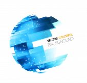 pic of globe  - Vector Abstract technology digital lines - JPG