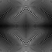 pic of distort  - Design monochrome whirl lines motion background - JPG