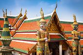 image of guardian  - Demon Guardian in Wat Phra Kaew Grand Palace Bangkok - JPG