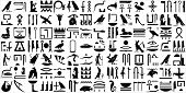 stock photo of hieroglyph  - A collection of ancient Egyptian symbols.