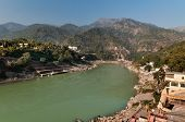 pic of gang  - View of River Ganges in Laxman Jhula at the moning - JPG