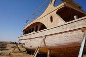 picture of shipyard  - small shipyard in the desert of egypt - JPG