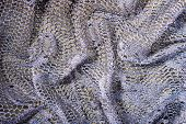 stock photo of rayon  - Folded and Silver Grey Lace Elegant Background - JPG