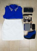 picture of outfits  - Outfit of clothes and woman accessories - JPG