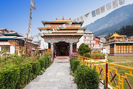 image of tibetan  - Tibetan monastery in Manali village Himalaya India - JPG
