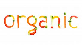 picture of nic  - Colourful vegetables in the form word of org - JPG