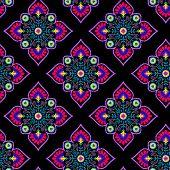pic of half  - seamless folk ethnic pattern - JPG