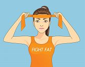 Постер, плакат: Women fighting fat