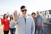 picture of waving hands  - people - JPG